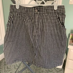 Hollister black and white check skirt - cotton